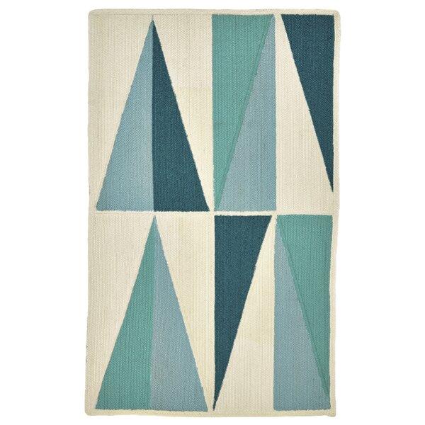 Carrington Blue/Green/Cream Indoor/Outdoor Area Rug by Wrought Studio