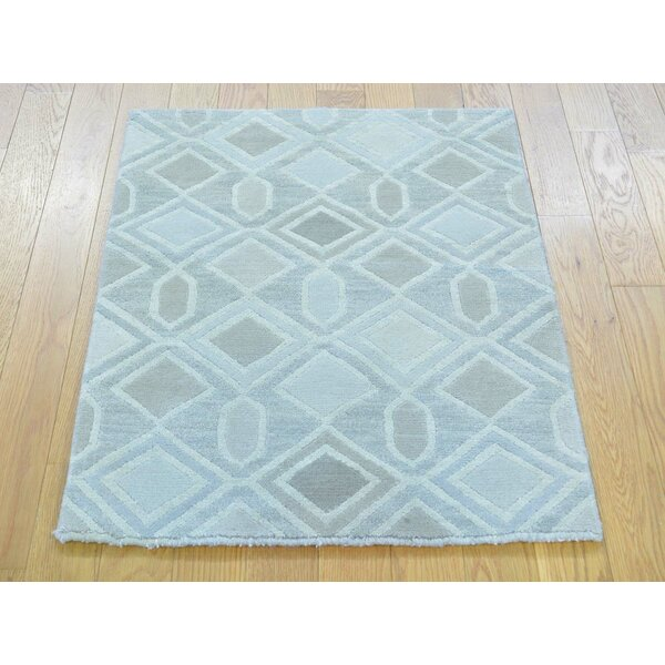 One-of-a-Kind Boornazian Hand-Knotted Wool/Silk Area Rug by Isabelline