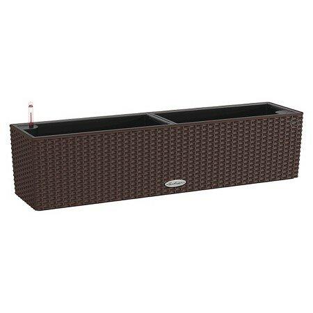 Balconera Self-Watering Wicker Planter Box by Lechuza