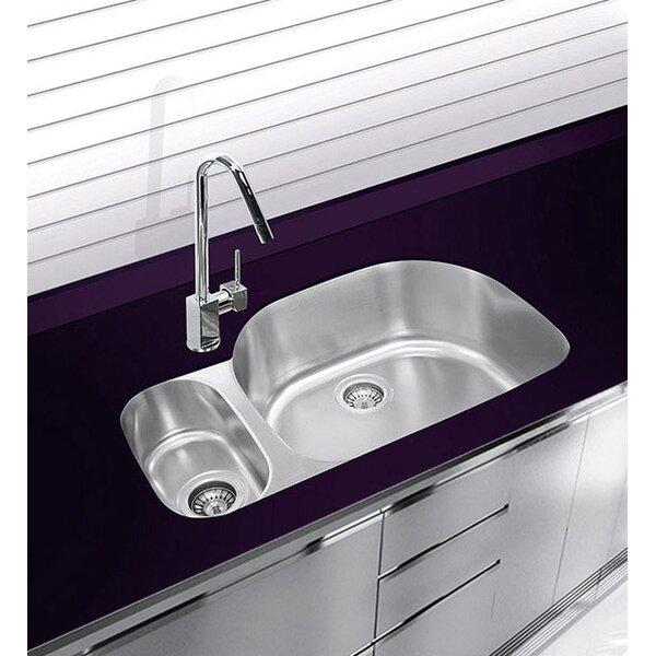 31.5 L x 20.75 W Undermount Double Bowl Stainless Steel Kitchen Sink by Ukinox
