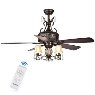 Find the perfect 52 Wegate 5 Blade Ceiling Fans with Remote By Astoria Grand