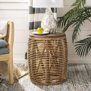 Big Save Amidon Rattan Drum End Table By Bungalow Rose