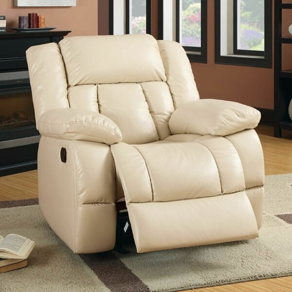 Bergerac Leather Manual Glider Recliner By Latitude Run