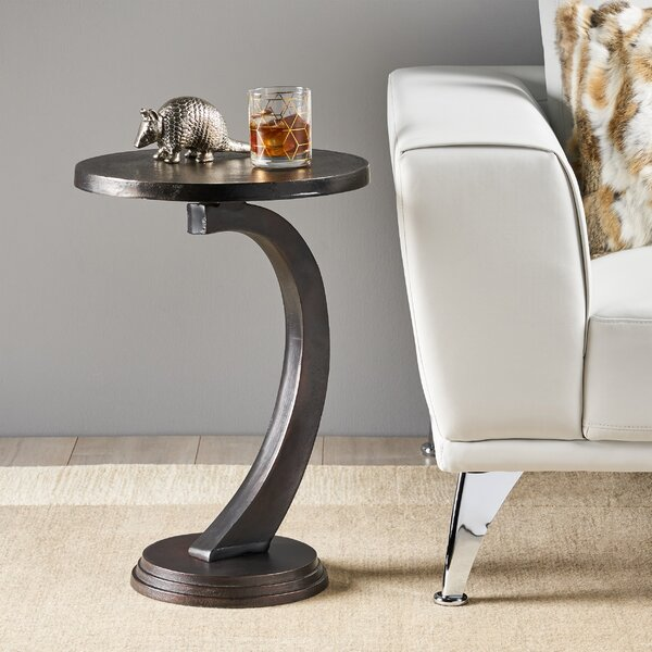 Victoria Modern Aluminum Accent Table By World Menagerie