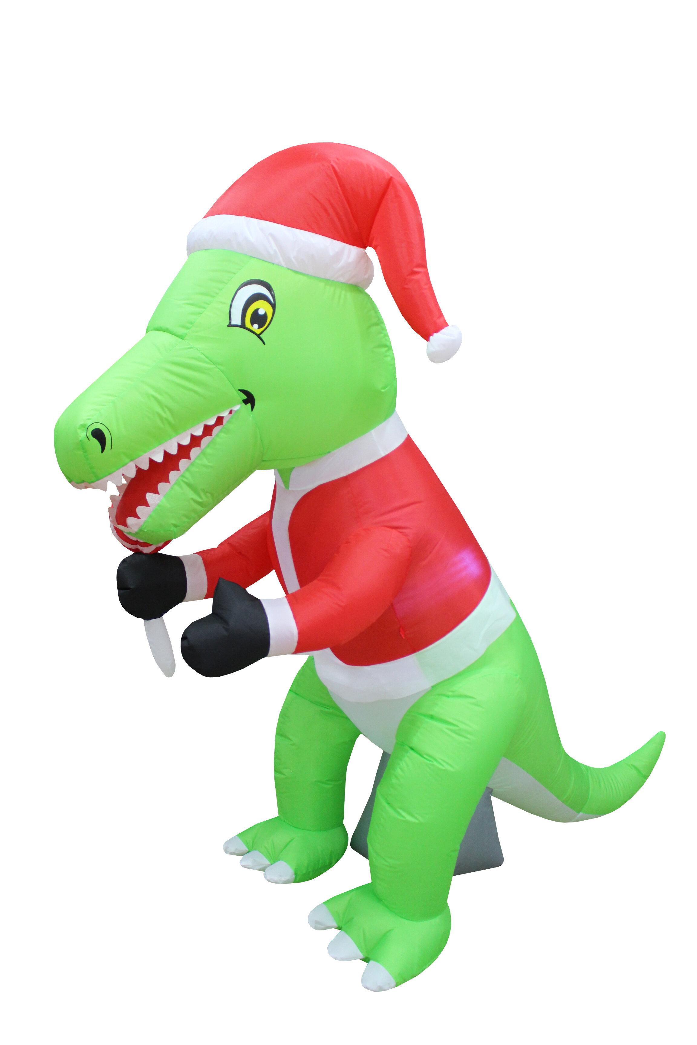 Christmas Dinosaur.Dinosaur Christmas Inflatable
