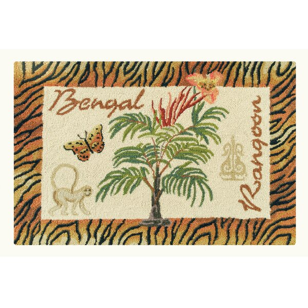 Rohnert Park Bengal and Rangoon Wool Brown Area Rug by Bloomsbury Market