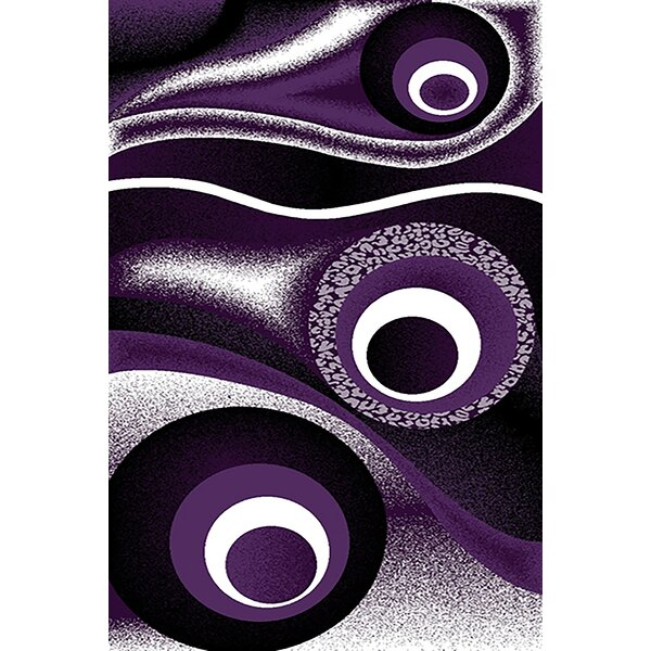 Mccampbell Purple/Black Area Rug by Ivy Bronx