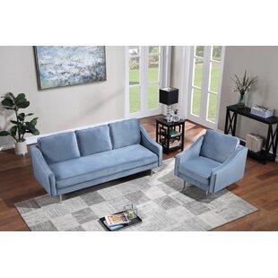 Alısan 2 Piece Velvet Living Room Set by Orren Ellis