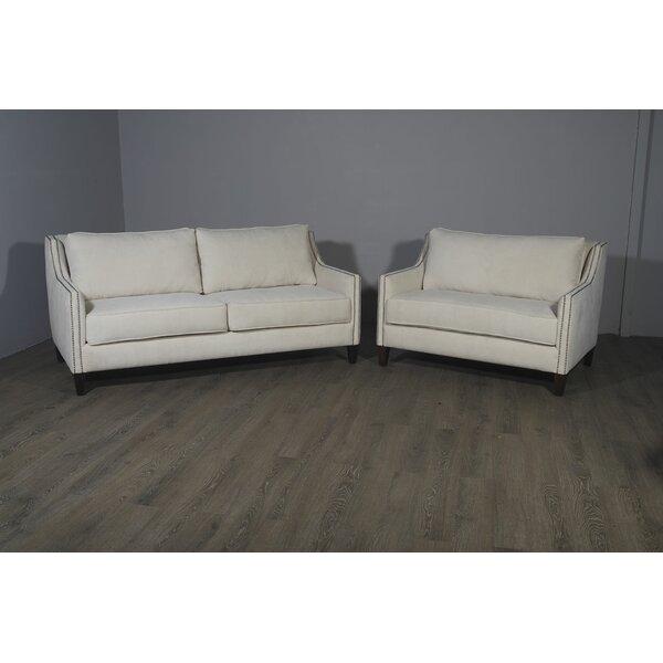 Woodell Leather Configurable Living Room Set by Orren Ellis