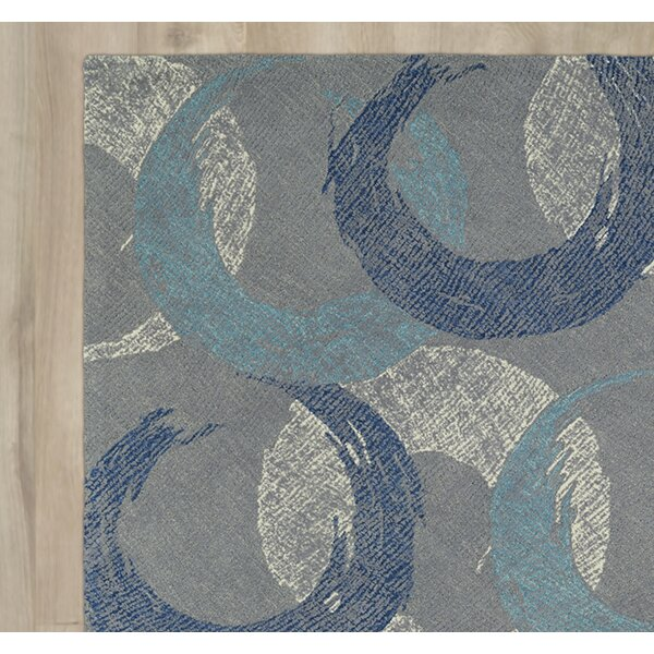 Louane Hand-Tufted Gray/Blue Area Rug by Brayden Studio