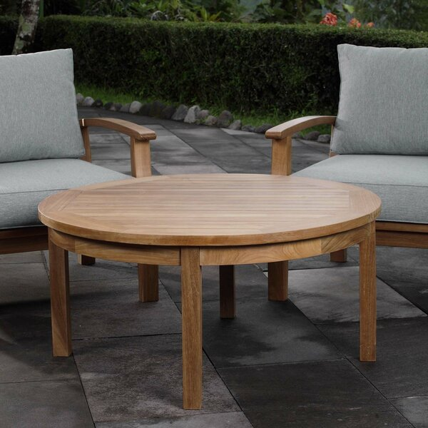 Elaina Teak Coffee Table by Beachcrest Home