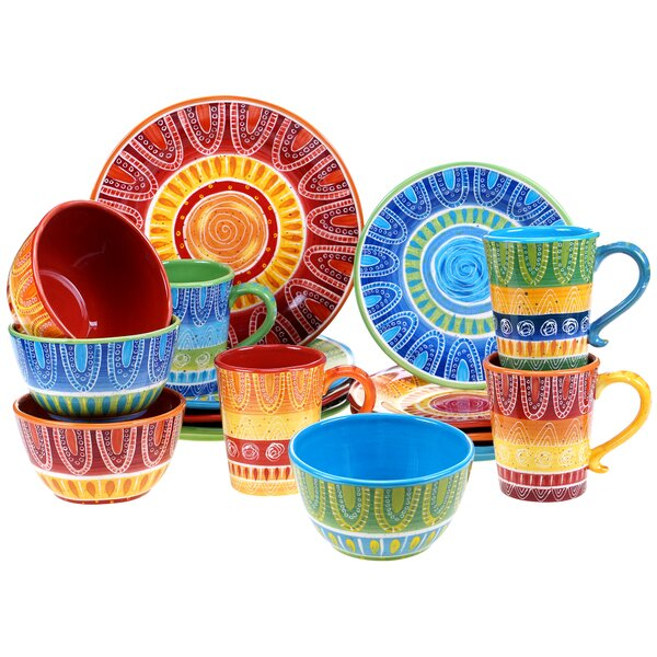 Merlet 16 Piece Dinnerware Set by World Menagerie