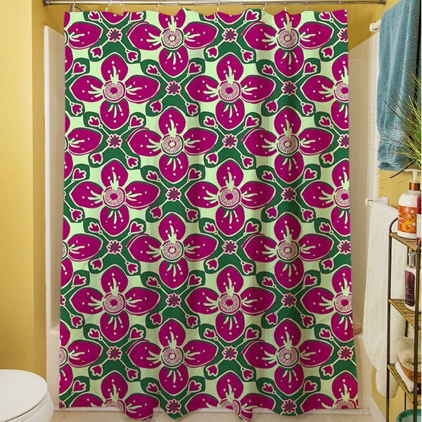 Anna Medallion IV Shower Curtain by Manual Woodworkers & Weavers