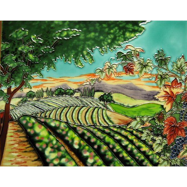 Vineyard View Tile Wall Decor by Continental Art Center