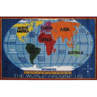 World map rug wayfair supreme world map kids rug gumiabroncs Image collections