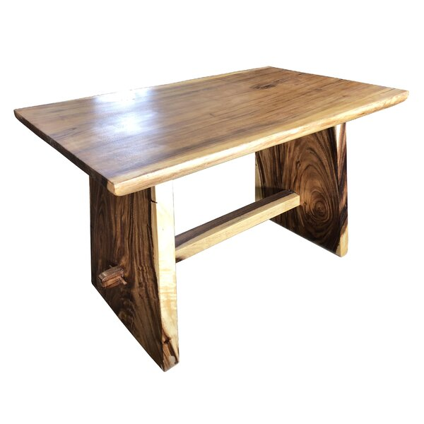 Mcphearson One Block Slab Solid Wood Dining Table by Millwood Pines