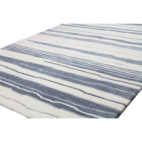 Harman Hand-Woven Ivory/Blue Area Rug by Highland Dunes