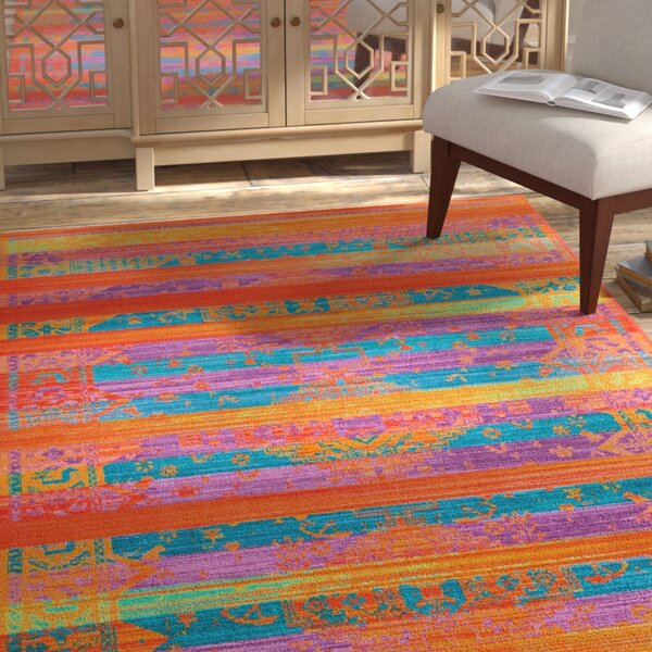 Durfee Yellow/Orange/Blue Area Rug by Bloomsbury Market