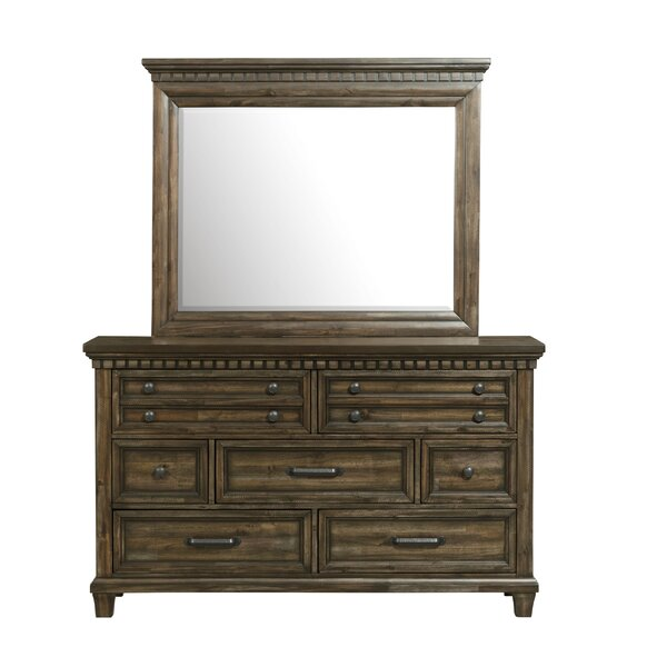 Dileo 7 Drawer Dresser with Mirror by Darby Home Co