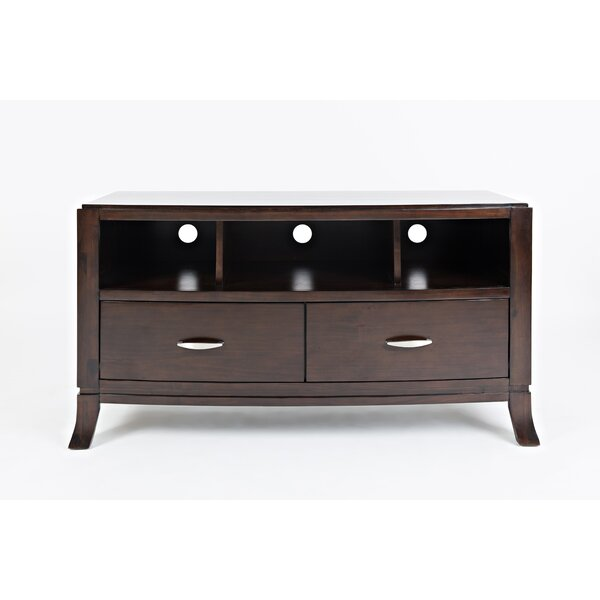 Jorma Transitional Wooden Media Console Table