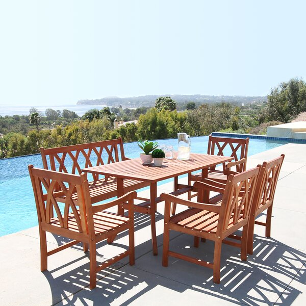 Stephenie 6 Piece Dining Set by Longshore Tides