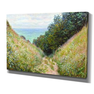 'Road at La Cavée' by Claude Monet Painting Print on Wrapped Canvas by Wexford Home