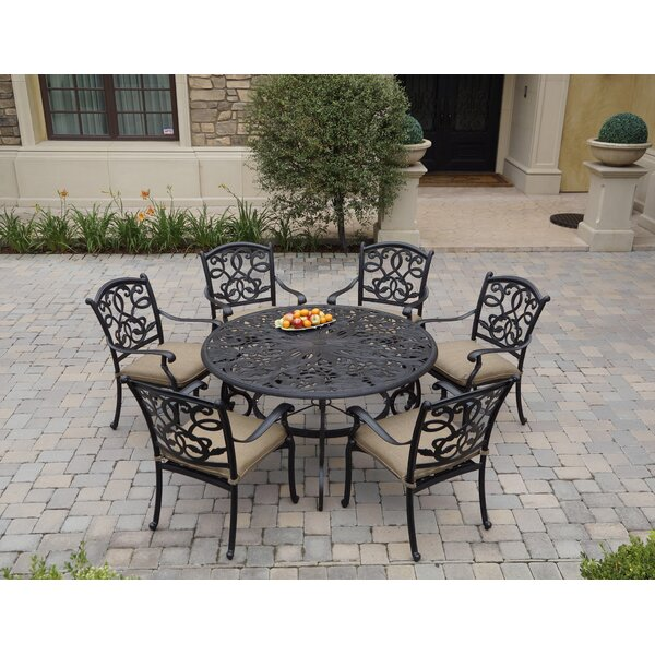 Windley 7 Piece Dining Set with Cushions by Fleur De Lis Living