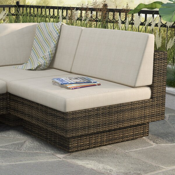 Park Terrace Deep Seating Armless Middle Chair with Cushions by dCOR design