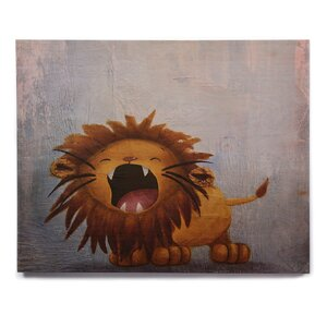 'Dandy Lion' Print on Wood by East Urban Home