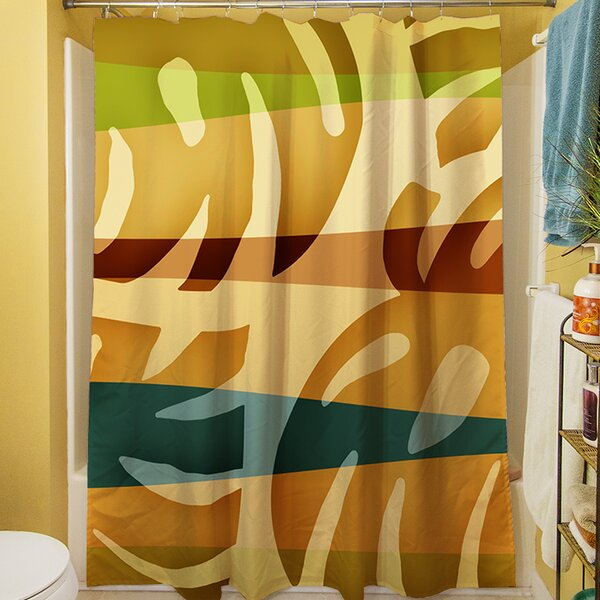 Tropical Leaf I Shower Curtain by Manual Woodworkers & Weavers