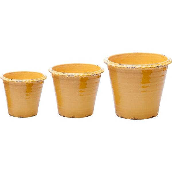 3-Piece Ceramic Pot Planter Set by Abigails