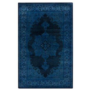Reckange-sur-Mess Hand-Tufted Wool/Cotton Navy Area Rug by Bungalow Rose