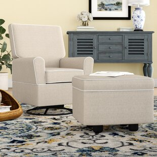 Shelbyville Swivel Glider with Ottoman by DarHome Co