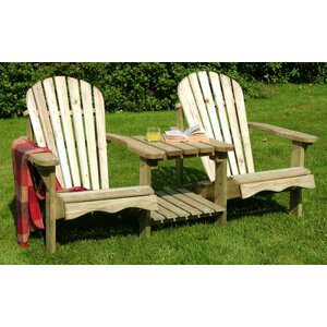 Pauls Valley Wooden Love Seat