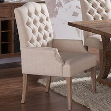 Linen Button Tufted Armchair by !nspire