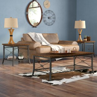 Jackeline 3 Piece Coffee Table Set Mistana