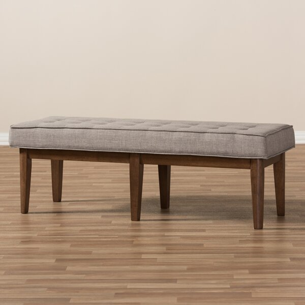 Fielden Mid-Century Wood Entryway Bench by Ivy Bronx