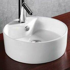 Searching for Ceramic Circular Vessel Bathroom Sink By Elanti