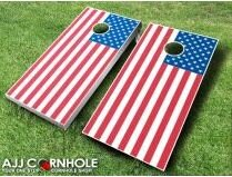 10 Piece United States Flag Cornhole Set by AJJ Cornhole