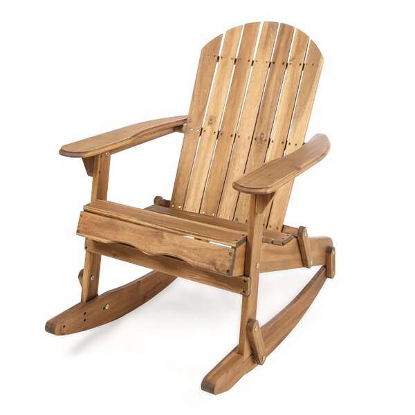 Stamm Solid Wood Rocking Adirondack Chair by Millwood Pines