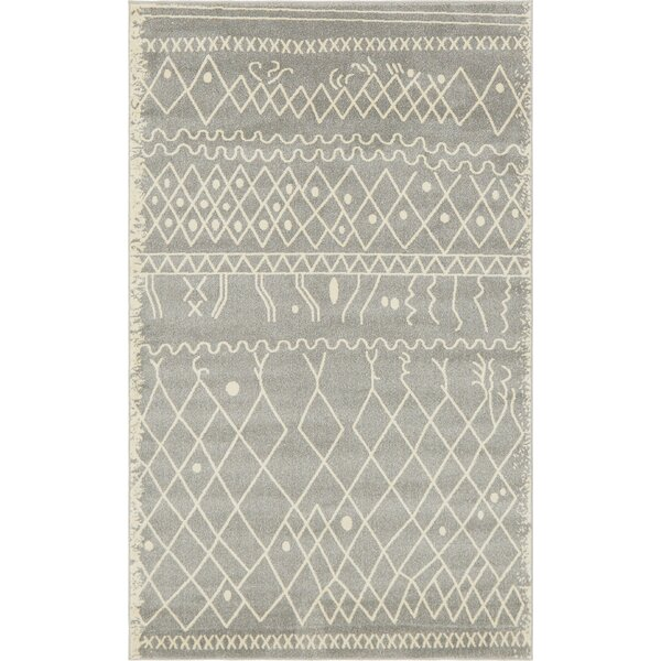 Foxhill Gray Area Rug by Bungalow Rose