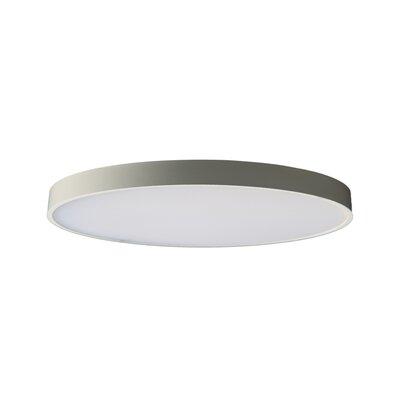 "Anchor 1 - Light Statement Circle LED Flush Mount Orren Ellis Fixture Finish: White, Size: 0.77"""" H x 4.7"""" W x 4.7"""" D -  7529753DF2194F21BDDC7AE2140851FC"