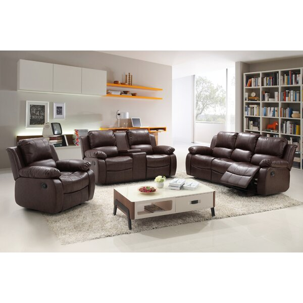 Living In Style Reno 3 Piece Reclining Living Room Set & Reviews ...