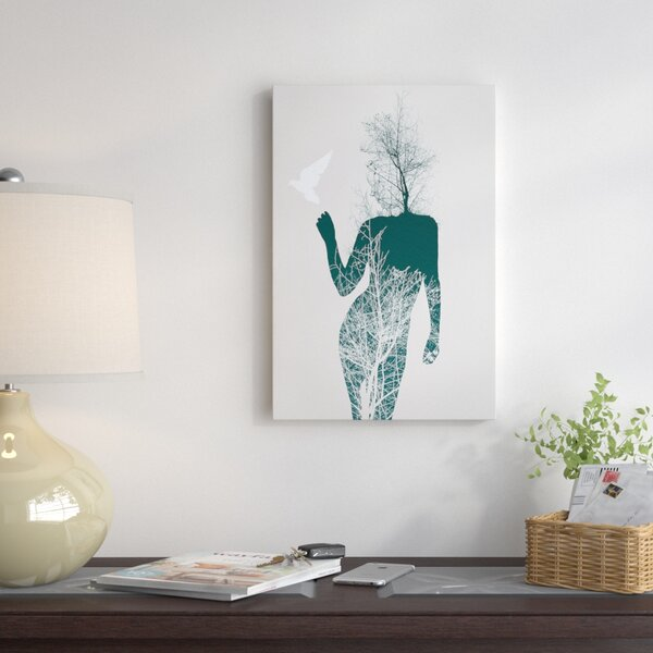 Bliss of Solitude Graphic Art on Wrapped Canvas by East Urban Home