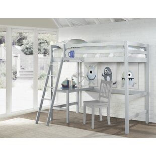 Check Prices Annuziata Twin Study Loft Bed with Hanging Nightstand By Birch Lane™