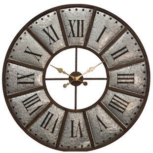 Budget Gidley Oversized  39 Wall Clock by Williston Forge