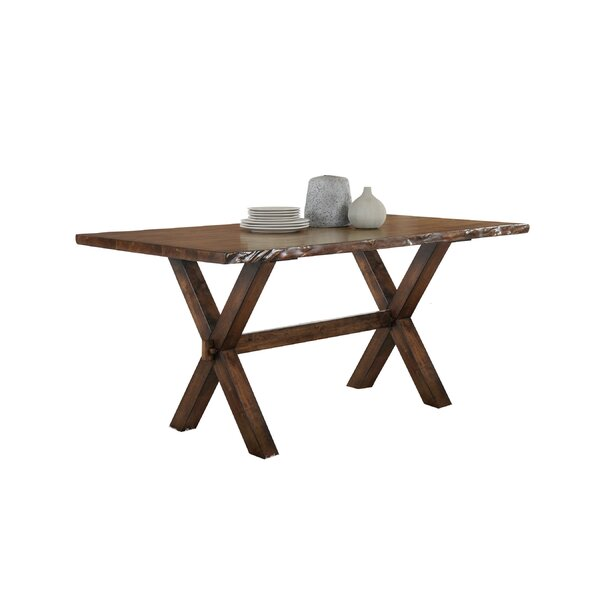 Adeline Solid Wood Dining Table by Millwood Pines