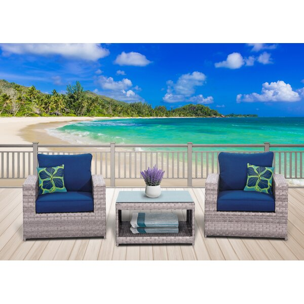 Burkley Olefin 3 Piece 2 Person Seating Group by Longshore Tides