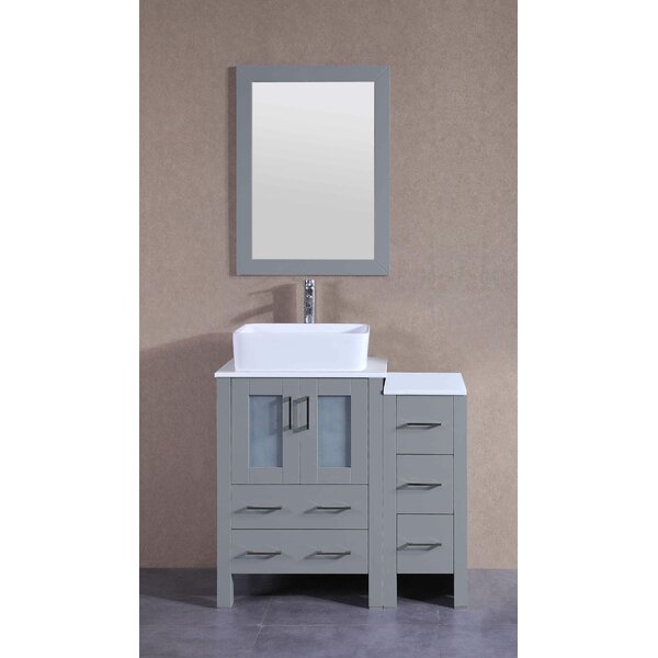 Adora 36 Single Bathroom Vanity Set with Mirror by Bosconi