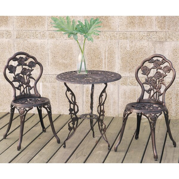 Diamond 3 Piece Bistro Set by A&J Homes Studio